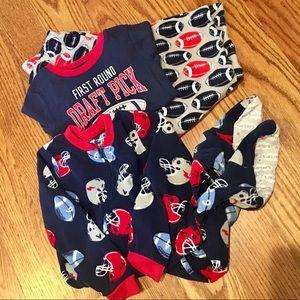 Carter's Football Theme Pajama Set